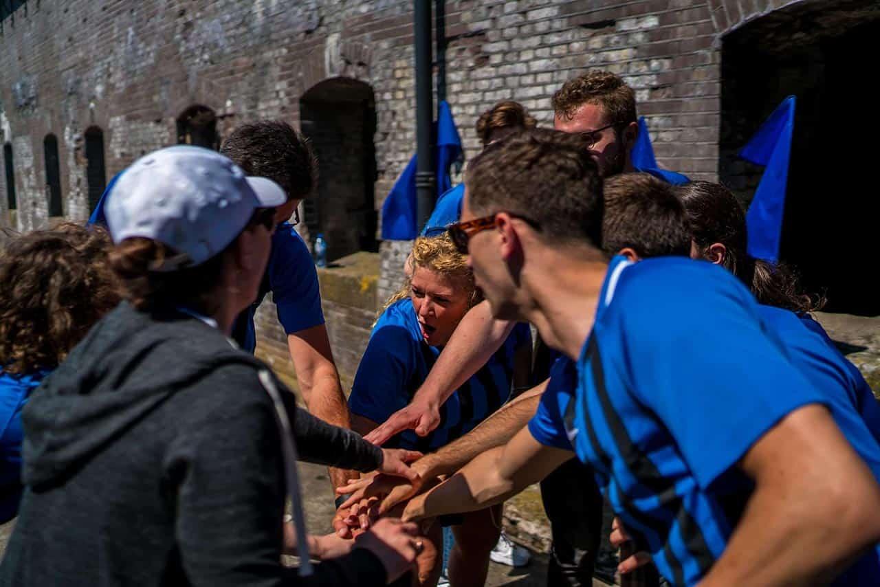 Teambuilding op Pampus foto 2